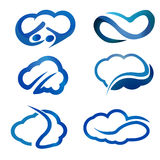 Cloud stylish logo and icons stock image