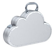 Cloud suitcase Stock Photo