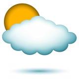Cloud with sun Stock Photo