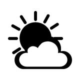 Cloud with sun climate isolated icon Royalty Free Stock Photography