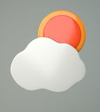 Cloud with sun Royalty Free Stock Images