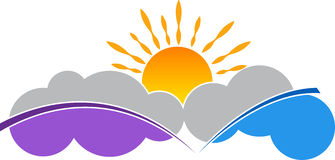 Cloud and sun logo Royalty Free Stock Images