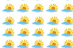 Cloud and sun pattern Stock Images