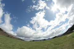 Cloud and sun in Pyrenees Royalty Free Stock Photography