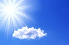 Cloud and sun in a sky Stock Photo