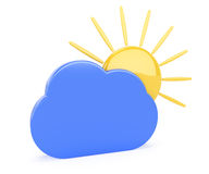 Cloud and sun Royalty Free Stock Photo