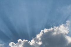 Cloud and Sunbeams Horizontal Royalty Free Stock Image