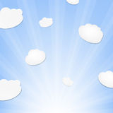 Cloud And Sunburst Royalty Free Stock Images