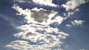 cloud sunen Royaltyfria Bilder