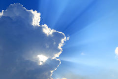 Cloud and sunlight Royalty Free Stock Photo
