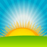Cloud and sunny background vector illustration Stock Photos