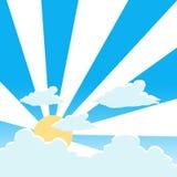 Cloud and sunrise background Stock Image