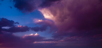Cloud in sunset Stock Photo