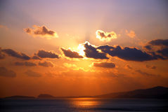 Cloud in Sunset. A cloud in sunset on autumn in Dalian, China Royalty Free Stock Photo