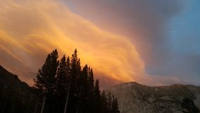 Cloud. Sunset at Yosemite ,it was autumn,the cloud was amzing Stock Photos
