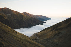 Cloud Surface in Mountains Royalty Free Stock Photos