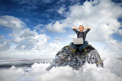 Cloud surfing Stock Photos