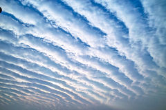 Cloud surge. The clouds in the sky look like waves Stock Photo