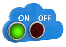 Cloud Switch Button on/off Stock Images