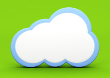 Cloud. A cloud symbol. 3D rendered illustration Stock Photography