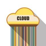 Cloud symbol flat design Royalty Free Stock Images