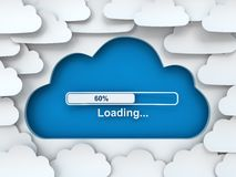 Cloud symbol with loading progress bar Royalty Free Stock Photography