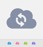 Cloud & Sync Arrows - Granite Icons Royalty Free Stock Photos