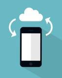 Cloud sync concept illustration. Vector cloud sync concept illustration Royalty Free Stock Photography