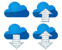 Cloud Sync with directional arrows. On transparent background Royalty Free Stock Photos