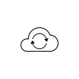 Cloud sync line icon. Seo and development, network sign, a linear pattern on a white background, eps 10 Royalty Free Stock Photo