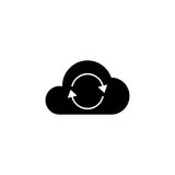 Cloud sync solid icon. Seo and development, network sign, a filled pattern on a white background, eps 10 Stock Image
