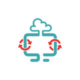 Cloud synchronization icon vector illustration. Royalty Free Stock Photo