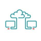 Cloud synchronization icon vector illustration. Stock Photography
