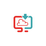 Cloud synchronization icon vector illustration. Royalty Free Stock Images