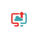 Cloud synchronization icon vector illustration. Royalty Free Stock Photography