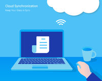 Cloud synchronization Stock Images