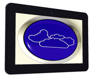 Cloud Tablet Means Rain Rainy Weather Stock Photo
