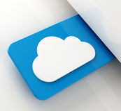 Cloud tag. Cloud computing tag concept on blue background Stock Images