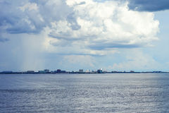 Cloud on Tampa bay area Royalty Free Stock Image