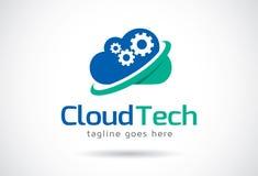 Cloud Tech Logo Template Design Vector, Emblem, Design Concept, Creative Symbol, Icon Royalty Free Stock Photography