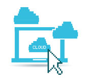 Cloud technological Royalty Free Stock Photos