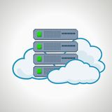 Cloud technologies. Computer icon server. design Royalty Free Stock Photo