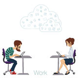 Cloud technologies, services for work and life Royalty Free Stock Image