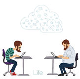 Cloud technologies, services for work and life Royalty Free Stock Photo