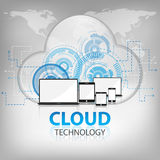 Cloud technology abstract background vector. Cloud technology white abstract background vector Royalty Free Stock Image