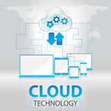 Cloud technology abstract background vector. Cloud technology white abstract background vector Royalty Free Stock Photo
