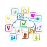 Cloud technology application store icon Stock Photos