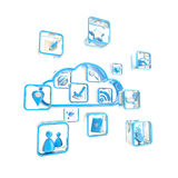 Cloud technology application store icon Royalty Free Stock Images