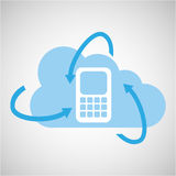 Cloud technology cellphone mobile media icon Stock Photo