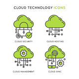 Cloud Technology, Cloud Security, Cloug Hosting Stock Photo